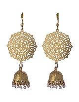 Kshitij Jewels Classic Gold Plated Jhumki Earring KJ007