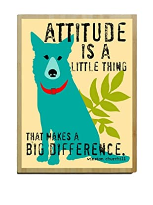 Artehouse Attitude Is A Little Thing Bamboo Wood Sign