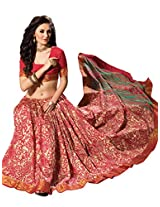 De Marca Multi-Coloured Raw Silk A2403 Saree