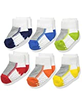 Jefferies Socks Baby Boys' Boy Performance Tech Quarter 6 Pair Pack Socks