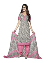 AASRI Casual Wear Synthetic 3 Piece unstitched Salwar Suit 1078