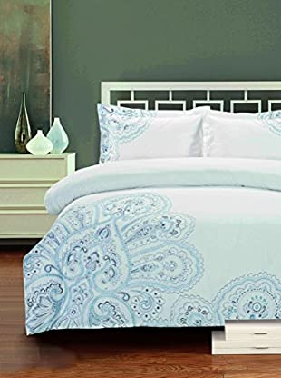 Mélange Home Paisley Embroidered Duvet Set