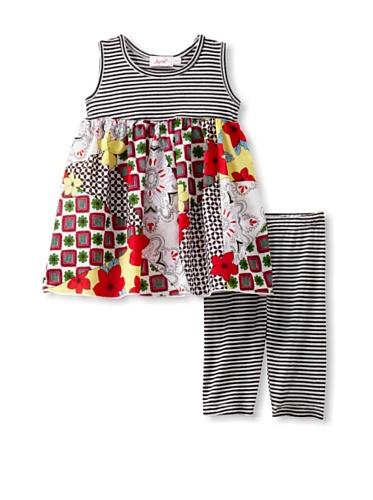 Jupon Baby Gemma Tunic & Leggings Set (Red/black)