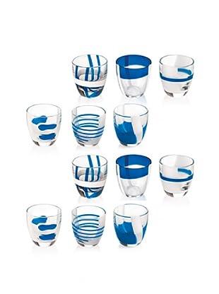 Guzzini Set 12 Bicchierini Liquore Table Art Blu