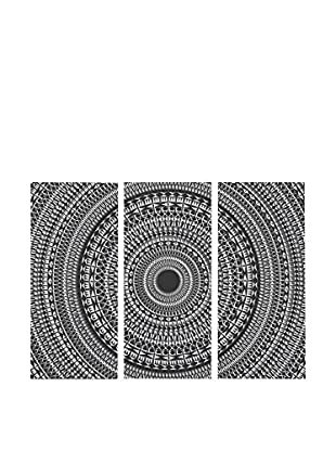 Surdic Panel Decorativo 3 Piezas Mandala