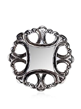 Exquisitely Carved Paloma Mirror, Silver