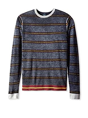 Tailor Vintage Men's Striped Reversible Crew Neck Sweater