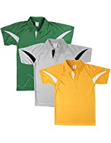Campus Sutra Combo Dry-Fit Anti Sweat Collared Tshirt Pack of 3