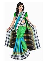 ISHIN Bhagalpuri Silk Multicolor Printed Saree
