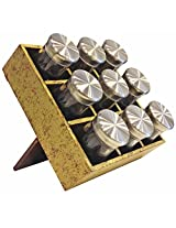 Butterfly Homes Wood Spice Racks, 8 X 8 X 3, Matt Gold Dark Brown
