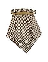 Navaksha Micro Fibre Golden and Brown Cravat
