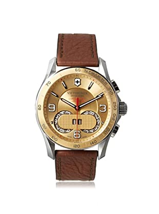 Victorinox Men's 241617 Chrono Classic Brown Stainless Steel Watch