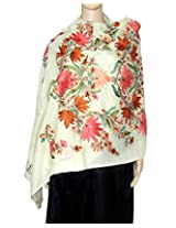 Beautiful floral embroidery stole/shawl from Indian Fashion Guru