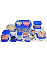 Princeware SF Pak Container Set, 17-Pieces, Blue