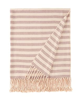 Nine Space Viscose from Bamboo Striped Throw Blanket (Plum)