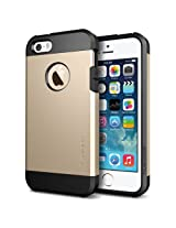 Spigen Tough Armor iPhone 5S / 5 Case with Extreme Heavy Duty Protection and Air Cushion Technology for iPhone 5S / iPhone 5 - Champagne Gold