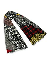Dahlia Women's 100% Merino Wool Pashmina Scarf - Colorful Pattern Patchwork