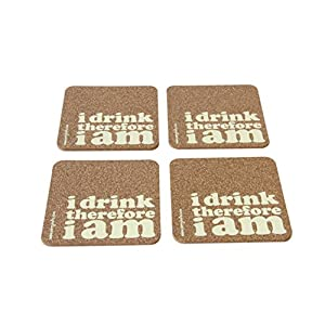 Verry India I drink therefore I am - Set of 4 coasters ( Cork )
