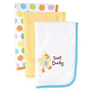 Luvable Friends Three-Pack Burp Cloths