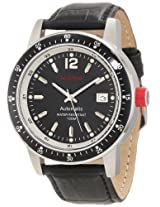 red line Men's RL-50013-11-BK Meter Automatic Black Dial Black Leather Watch