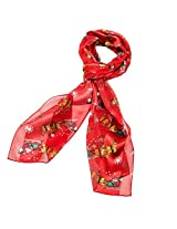 Purple Box Jewelry Christmas Scarf (Sleigh Red)