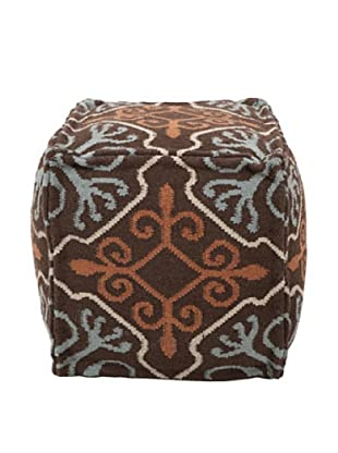 Surya Frontier Pouf, Brown