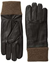 Haggar Men's Leather and Knit Glove