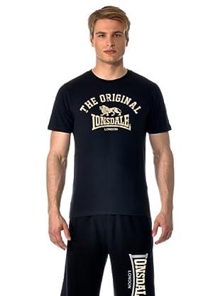 Lonsdale Camiseta Slim Fit Original (Negro)