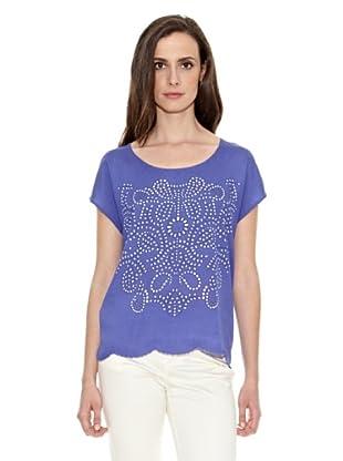 Cortefiel Camiseta Estampada Panau (Azul)