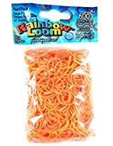 Rainbow Loom Pearl Neon Orange/Neon Yellow Rubber Bands with 24 C-Clips (600 Count)