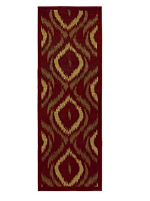 Ikat Modern Rug, Red, 2' 8