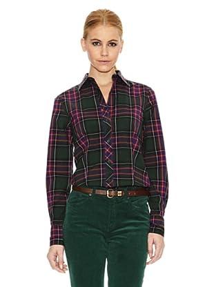 Gant Camisa Estampada (Verde / Rosa)