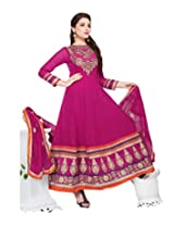 Viva N Diva Dark Pink Color Georgette Anarkali Suit.