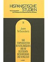 Das Tempussystem Im Katalanischen Und Im Deutschen. Beschreibung Und Vergleich