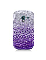 Aimo SAMT599PCDI174 Dazzling Diamond Bling Case for Samsung T599 - Retail Packaging - Waterfall Purple