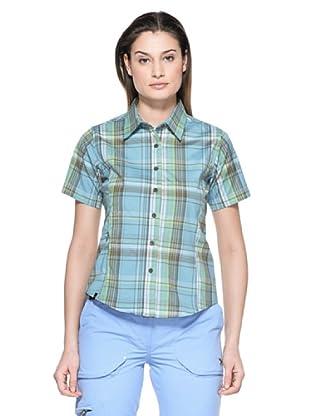 Salewa Camisa Jensy Dry W (Azul / Verde)