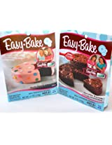 Easy Bake 2 Pk Combo Chocolate Brownie, Devils Food & Yellow Cake Mixes