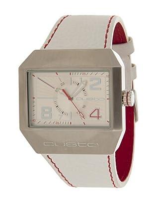 Custo Watches CU026501 - Reloj de Caballero cuarzo piel Blanco