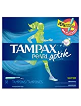 Tampax Pearl Regular Tampons with Plastic Applicator, Unscented - 36 ct