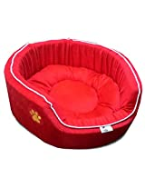 Dog Bed Small Fancy in Red