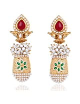 Gold-plated Drop Earrings By Toucstone DGETJ087-02RP-G