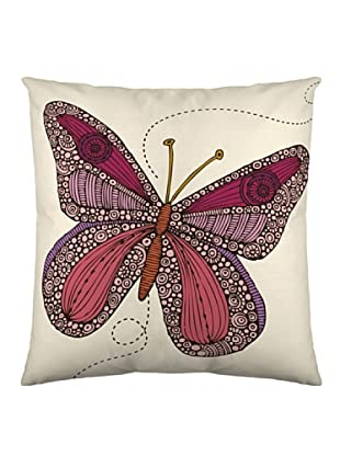 Valentina Funda de cojín Butterfly Bordeaux (Blanco / Bordeaux)