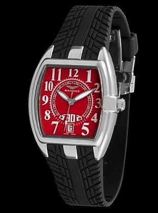 Sandoz 81254-07 - Reloj Fernando Alonso Señora negro / rojo