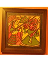 Contemporay Art - Phad paintings - King Flower Queen Javelin (CAPP1212KFQJ)