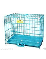 Paws For A Cause Dog Cage Blue Indian 18 Inch Puppy With Removable Tray
