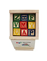 Alphabet & Number Non-Toxic Wooden ABCD and 1234 Building Blocks (27 Wood Blocks, Block Size 2cm Cube - Small Size)