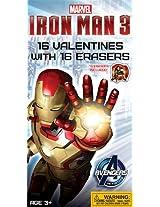 Paper Magic Ironman 3 Valentine Exchange Cards with Bonus Eraser (16 Count)