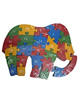 DCS Wooden Elephant Puzzle Toy with A-Z English Alphabet and Numbers Puzzle For Kids