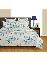 Swayam Veda Collection Printed 4 Piece Cotton Bed in a Bag Set with Heavy Winter Comforter - Multicolour