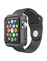 Poetic Turtle Skin Cover Case for Apple Watch 42mm Black